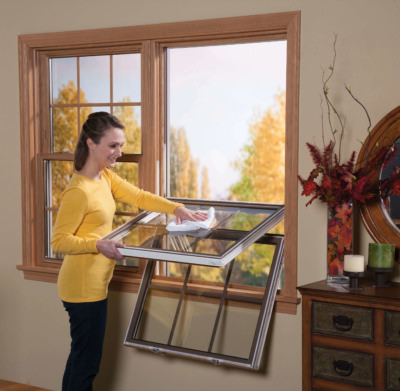 Easy and simple window cleaning with our low-maintenance vinyl replacement windows