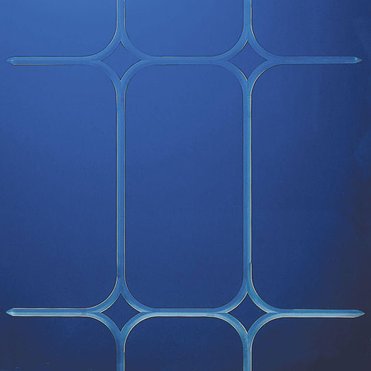 Marquis V-Groove Etched Glass