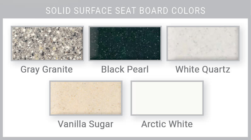 Solid Surface Seat Board Colors